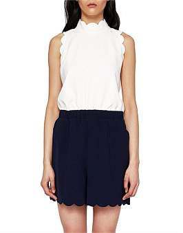 Ted Baker Layley High Neck Scallop Playsuit