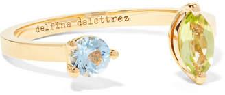 Delfina Delettrez 18-karat Gold, Peridot And Aquamarine Ring