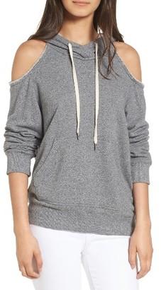 Women's Splendid Cold Shoulder Hooded Sweatshirt $98 thestylecure.com