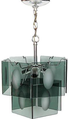 One Kings Lane Vintage Italian Smoked Glass Two-Tier Chandelier - 2-b-Modern