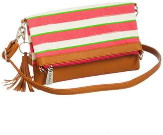 Evergreen Striped Convertible Bag