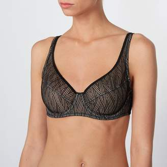 La Redoute Collections Lace Minimiser Bra