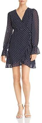 Aqua Ruffled Floral Wrap Dress - 100% Exclusive