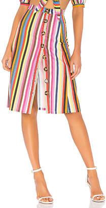 LPA Button Up Midi Skirt