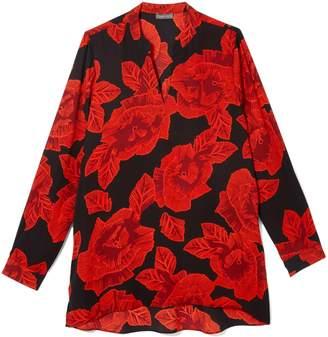 Vince Camuto Floral-print V-neck Tunic