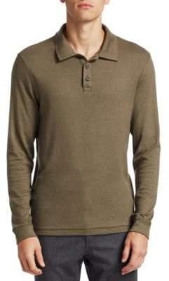 Saks Fifth Avenue COLLECTION Long-Sleeve Polo Shirt