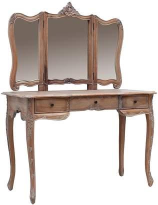 Hudson Furniture Dressing Table Paris Dressing Table, Large, Weathered Oak