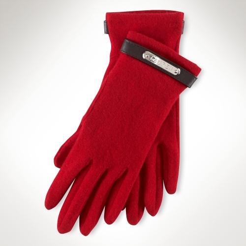 Ralph Lauren Wool & Cashmere Plaque Glove