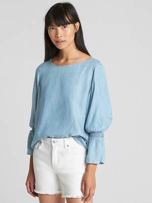 Gap Smock Bell Sleeve Top in TENCEL