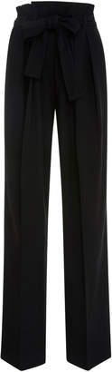 Victoria Beckham Victoria Pleated Wool-Blend Crepe Straight-Leg Pants