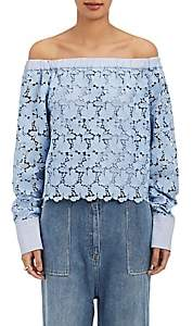 Robert Rodriguez Women's Lace Off-The-Shoulder Top - Lt. Blue