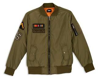 Hudson Boys' Military Bomber Jacket - Little Kid, 100% Exclusive