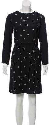 Band Of Outsiders Long Sleeve Silk Dress