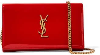 Saint Laurent Monogramme Kate Small Patent-leather Shoulder Bag - Red