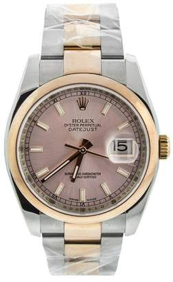 Rolex DateJust 36 mm Two Tone Rose Gold Ladies Watch