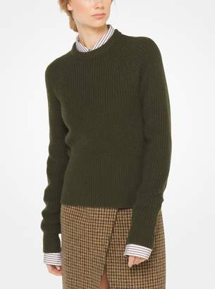 Michael Kors Cashmere and Mohair Ribbed Pullover