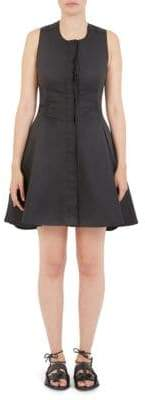 Carven Twist Open Back Fit-And-Flare Dress