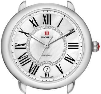 Michele Serein 16 Diamond Dial Round Watch Head, 34mm x 36mm