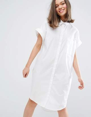 Monki Short Sleeved Shirt Dress $48 thestylecure.com