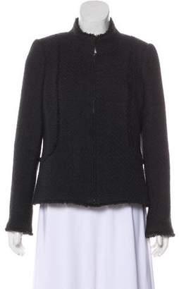 Chanel Tweed Zip Jacket