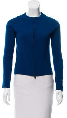 Hermes Cashmere Zip-Up Cardigan