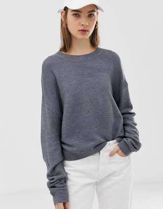 Asos Design DESIGN jumper with ripple stitch detail
