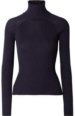Carcel - Ribbed Baby Alpaca Turtleneck Sweater - Navy