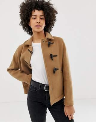 Gloverall Farlie short duffle coat in wool blend
