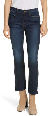 Frame Le High Straight Snap Away Hem Jeans