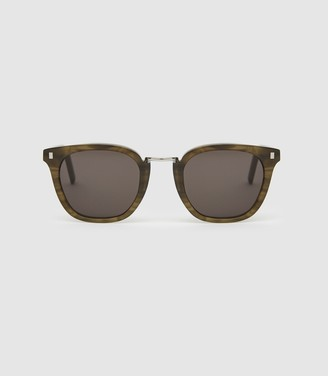 Reiss Ando - Monokel Eyewear Bridge Sunglasses in Green