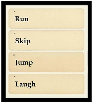 One Kings Lane Run Skip Jump Laugh Art