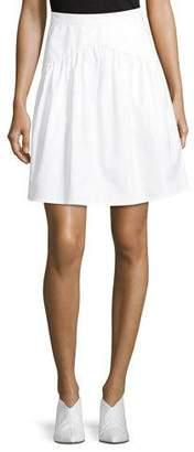 Atlantique Ascoli High-Waist A-Line Poplin Skirt