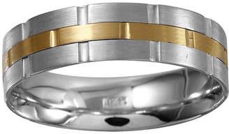 MODERN BRIDE Mens 5mm 10K Two-Tone Gold Wedding Band