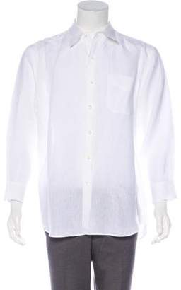Ralph Lauren Purple Label Linen Dress Shirt