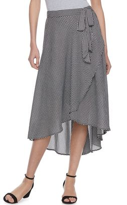 Women's ELLETM Checkered Faux-Wrap Skirt $54 thestylecure.com