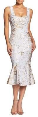 Dress the Population Fiona Midi Mermaid Dress