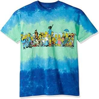 Liquid Blue Men's Simpsons the Cast Tie Dye Short Sleeve T-Shirt