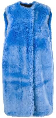 MSGM faux fur long gilet