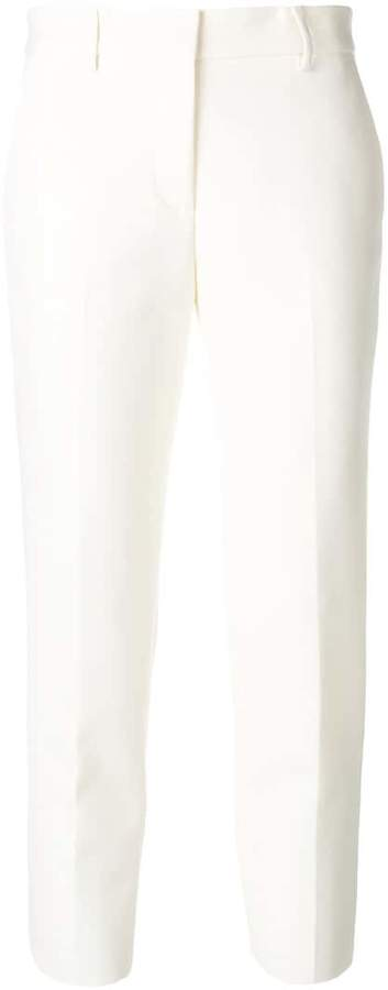 MSGM cropped straight leg trousers