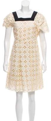Miu Miu Broderie Anglaise Knee-Length Dress