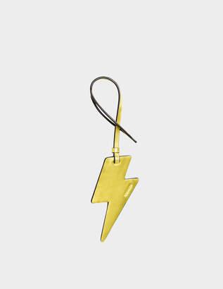 Coach Lightning Bolt Ornament Charm Bag Accessory in Yellow Calfskin