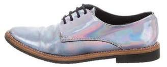 Miista Hologram Pointed-Toe Oxfords
