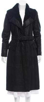 Burberry Shearling Shawl Collar Coat