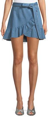 Paige Nivelle Denim Tulip Skirt