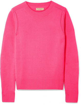 Burberry Cashmere Sweater - Bright pink