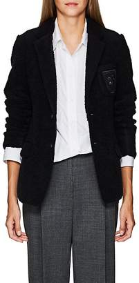 "Undercover Women's ""We Are Infinite""-Patch Wool-Blend Sherpa Blazer"