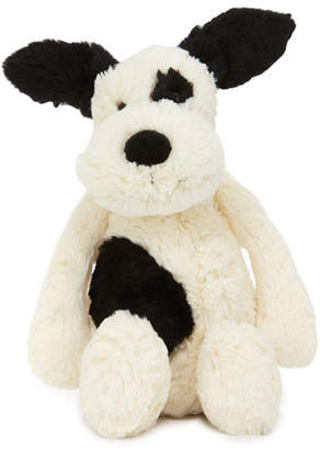Jellycat Medium Bashful Puppy Stuffed Animal, Black/White