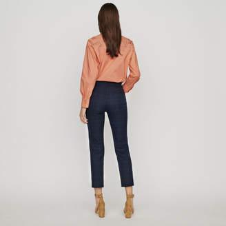 Maje 7/8 Plaid Trousers