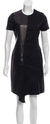 Reed Krakoff Leather-Paneled Shift Dress w/ Tags