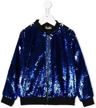 Diadora Junior sequinned bomber jacket